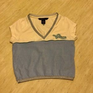 New Rocawear Colour Blocked V-Neck Towel Tee S